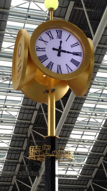 丸い金時計
